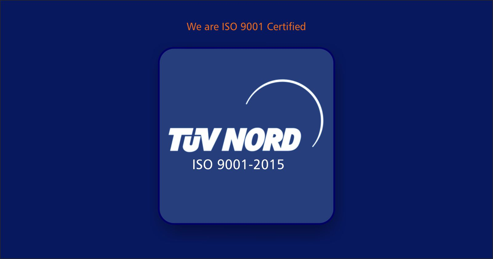 Delighted to Announce: We are ISO 9001 Certified!